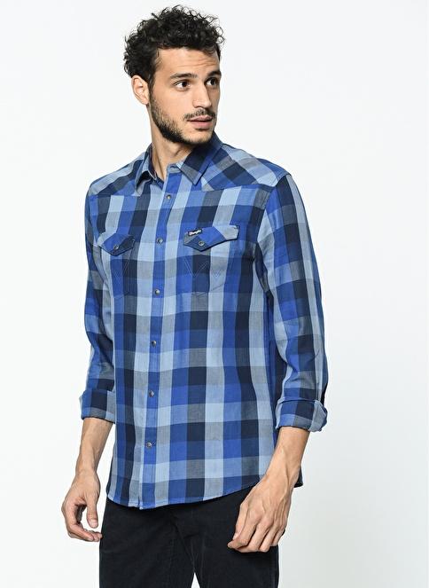 Wrangler Kareli Gömlek Mavi